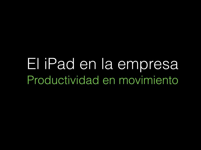 Formación iPad empresas