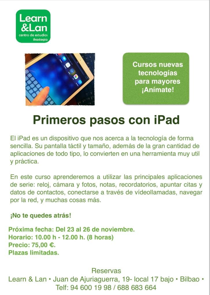 Primeros pasos con iPad Bilbao