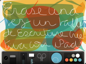 Taller de escritura creativa con iPad