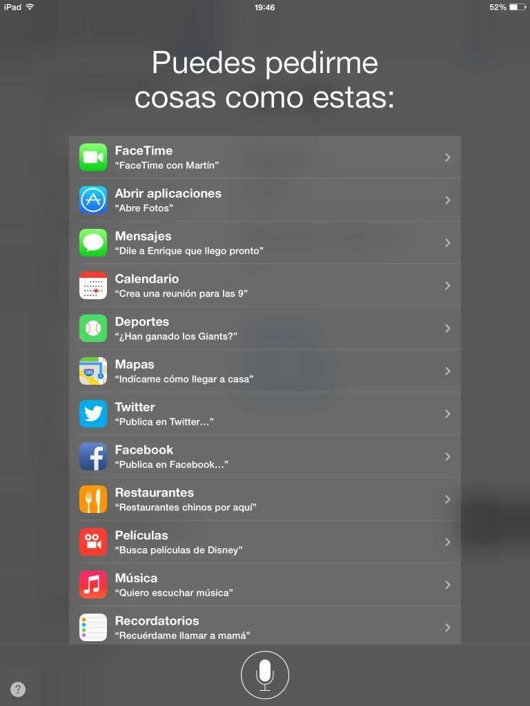 Siri iPad Todos los públicos