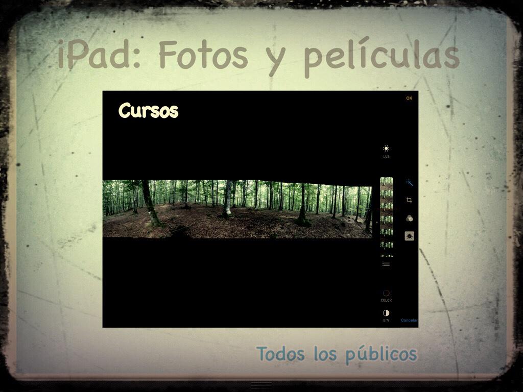 Talleres y cursos de iPad