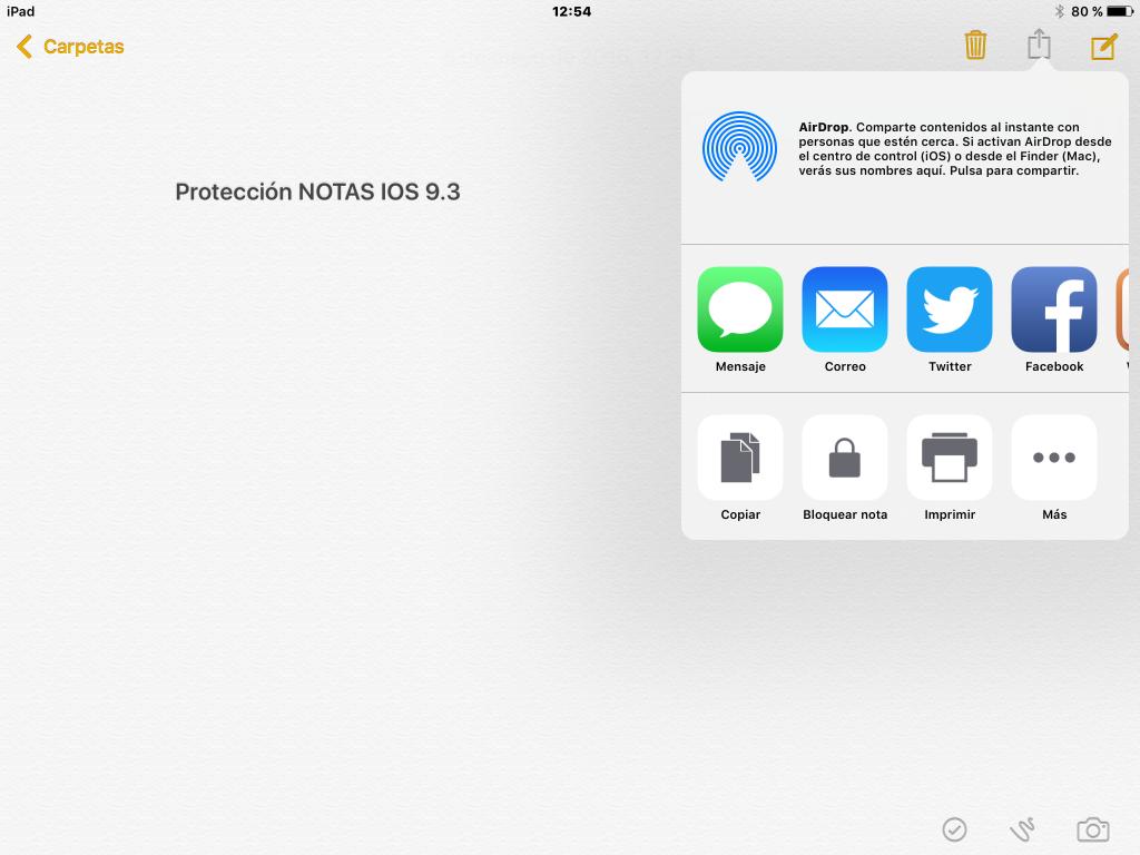 Notas IOS 9 proteger